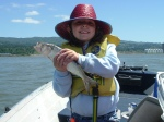 Lauren Davis, shad catcher, oversize sturgeon angler, future cover girl