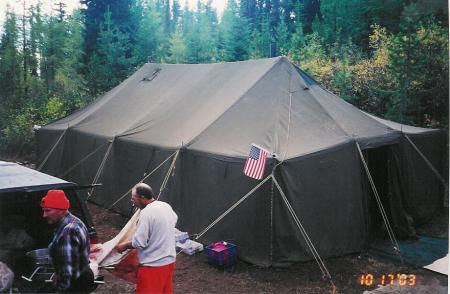 ... AS DOES HIS 2003 SETUP. (RAINIER TENTS PHOTO CONTEST)