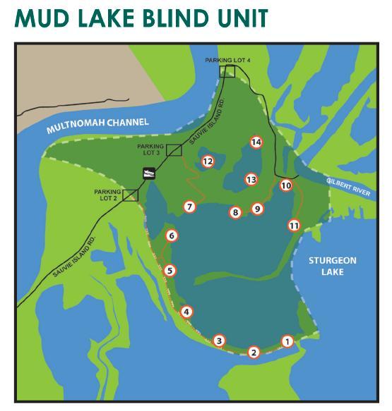 Sauvie Island Hunting Map