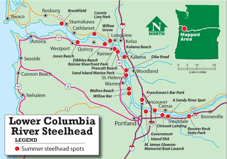 Brookings Oregon Bottom Fishing Holes Map